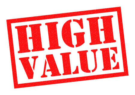 values: HIGH VALUE red Rubber Stamp over a white background.