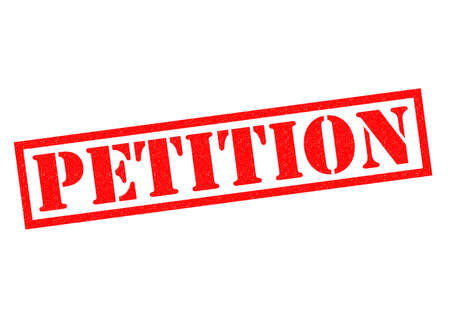 petition: PETITION red Rubber Stamp over a white background.