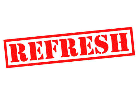 REFRESH red Rubber Stamp over a white background. Stock Photo