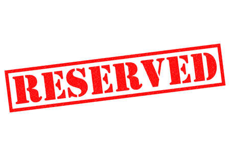 booked: RESERVED red Rubber Stamp over a white background.