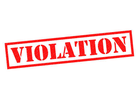lawlessness: VIOLATION red Rubber Stamp over a white background. Stock Photo