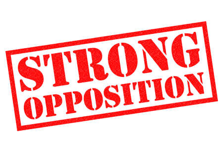 strife: STRONG OPPOSITION red Rubber Stamp over a white background.
