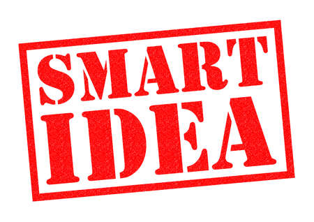 SMART IDEA red Rubber Stamp over a white background. Stock Photo