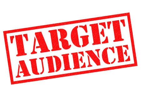 targetting: TARGET AUDIENCE red Rubber Stamp over a white background.