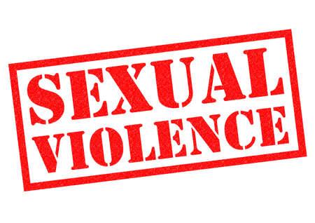 violencia sexual: VIOLENCIA SEXUAL sello de goma de color rojo sobre un fondo blanco.