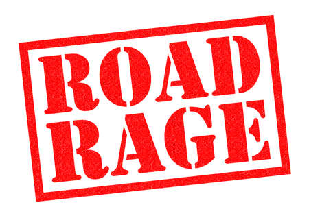 road rage: ROAD RAGE red Rubber Stamp over a white background.