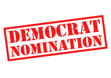 nominated: DEMOCRAT NOMINATION over a white background.