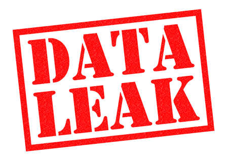 insider information: DATA LEAK red Rubber Stamp over a white background.
