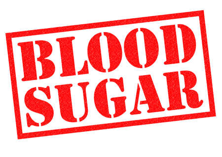 type 1 diabetes: BLOOD SUAGR red Rubber Stamp over a white background.