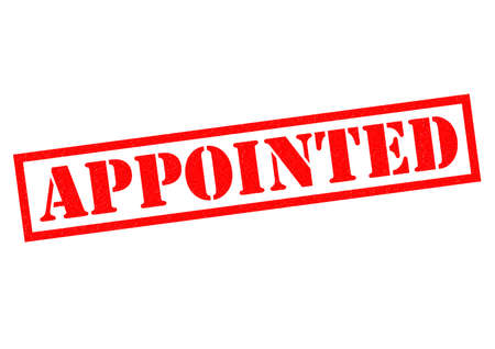 appointed: APPOINTED red Rubber Stamp over a white background.