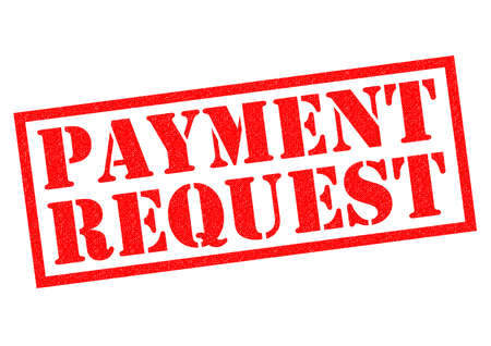 request: PAYMENT REQUEST red Rubber Stamp over a white background. Stock Photo