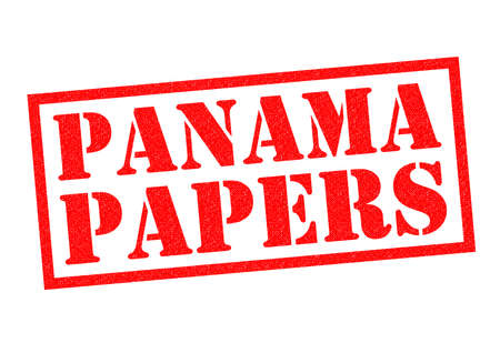 avoidance: PANAMA PAPERS red Rubber Stamp over a white background.