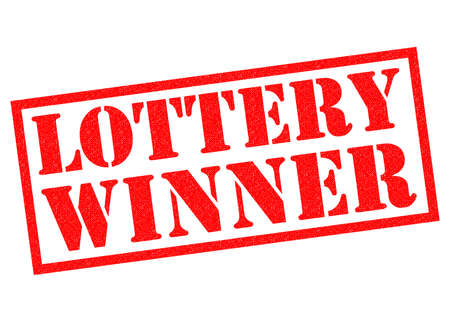 sweepstake: LOTTERY WINNER red Rubber Stamp over a white background.