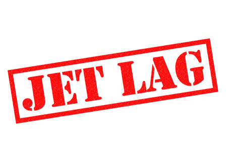 lag: JET LAG red rubber Stamp over a white background.