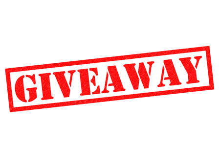 giveaway: GIVEAWAY red Rubber Stamp over a white background.
