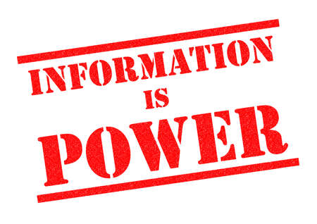 special education: INFORMATION IS POWER red Rubber Stamp over a white background. Stock Photo