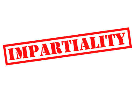 impartiality: IMPARTIALITY red Rubber Stamp over a white background.