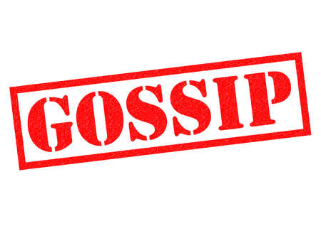 GOSSIP red Rubber Stamp over a white background. Stock Photo