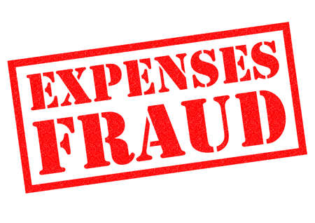 EXPENSES FRAUD red Rubber Stamp over a white background. Фото со стока - 58222907