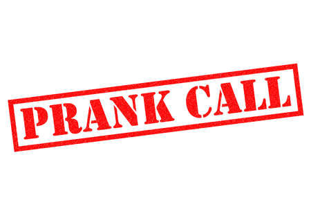 phonecall: PRANK CALL red Rubber Stamp over a white background.