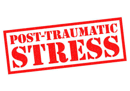 traumatic: POST TRAUMATIC STRESS red Rubber Stamp over a white background.
