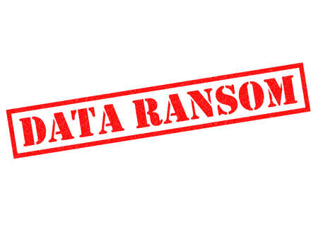 infect: DATA RANSOM red Rubber Stamp over a white background.
