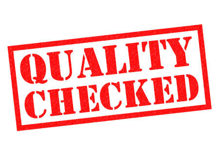 checked: QUALITY CHECKED red Rubber Stamp over a white background.