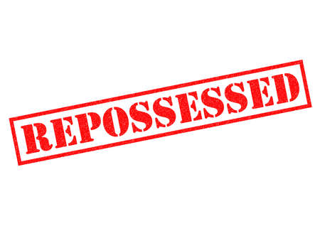 possession: REPOSSESSED red Rubber Stamp over a white background.