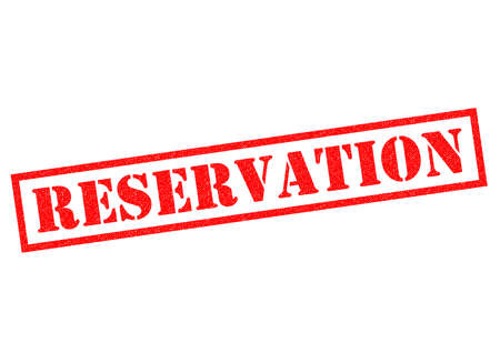 booked: RESERVATION red Rubber Stamp over a white background.