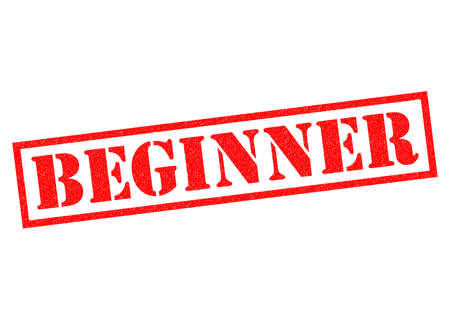 newcomer: BEGINNER red Rubber Stamp over a white background.
