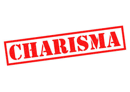 mesmerising: CHARISMA red Rubber Stamp over a white background. Stock Photo