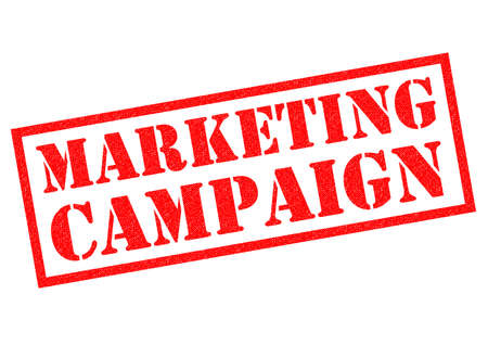 plugging: MARKETING CAMPAIGN red Rubber Stamp over a white background. Stock Photo