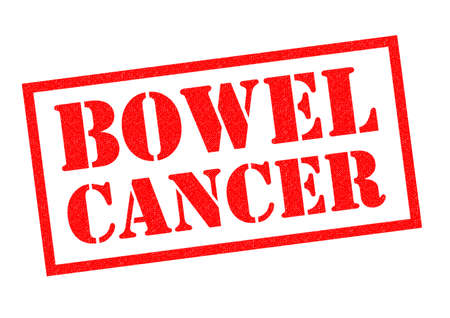 bowel: BOWEL CANCER red Rubber Stamp over a white background.