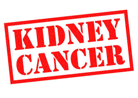biopsy: KIDNEY CANCER red Rubber Stamp over a white background. Stock Photo