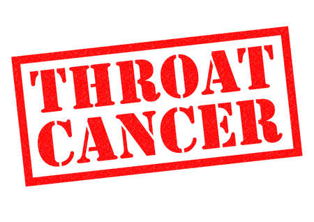 ct scan: THROAT CANCER red Rubber Stamp over a white background.