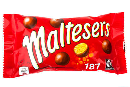 incorporated: LONDON, UK - JUNE 16TH 2016: A pack of Maltesers over a plain white background, on 16th June 2016.  Maltesers are a confectionery product manufactured by Mars, Incorporated.