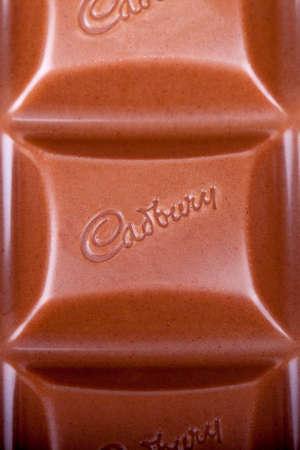 LONDON, UK - MAY 6TH 2016: Close-up of Cadbury Chocolate segments, on 6th May 2016.