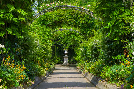 A view inside the beautiful St. Johns Lodge Garden in Regents Park, London.