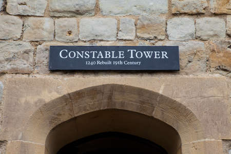 constable: A view of the Constable Tower at the Tower of London.  A total of 21 towers make up the historic Tower of London fortification. Editorial