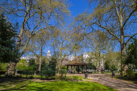 inn: A view inside Lincolns Inn Fields - the largest public square in London.
