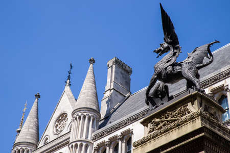 horace: The gothic Temple Bar dragon sculpture located on Fleet Street - the dragon symbolises the boundary on the City of London.