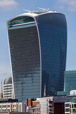 walkie talkie: 20 Fenchurch Street skycraper in the City of London.  The building is also known as the Walkie Talkie. Editorial