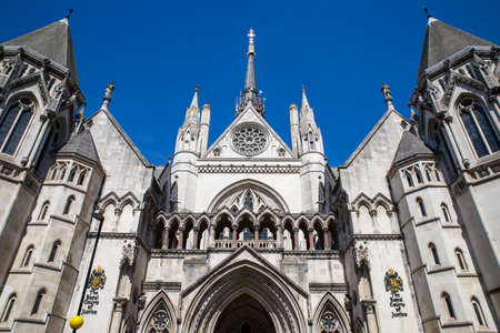 royals: A view of the magnificent architecture of the Royal Courts of Justice in London.