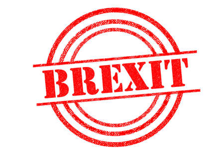 common market: BREXIT Rubber Stamp over a white background. Stock Photo