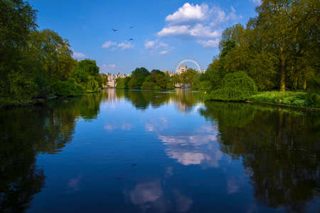 st jamess: A beautiful view of St. James�s Park in Westminster, London. Stock Photo