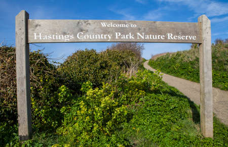 country park: A view of the beautiful Hastings Country Park Nature Reserve in Hastings, Sussex.