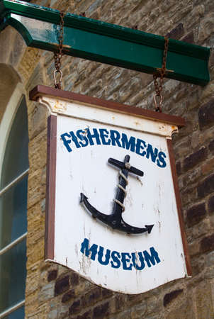 fishermen's: HASTINGS, UK - APRIL 1ST 2016: The sign on the exterior of the Fishermens Museum in Hastings, on 1st April 2016.