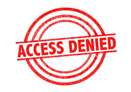 denial: ACCESS DENIED Rubber Stamp over a white background.