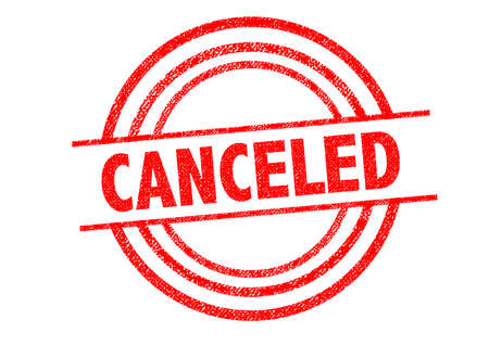 canceled: CANCELED Rubber Stamp over a white background. Stock Photo