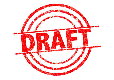 ketch: DRAFT red Rubber Stamp over a white background.